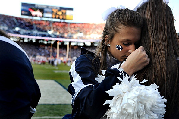 Sad Cheerleader Penn State