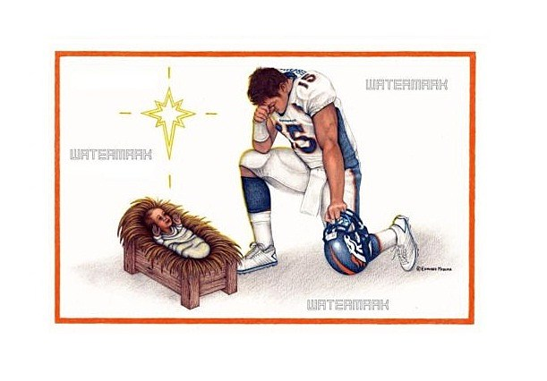 Tebow Jesus Card