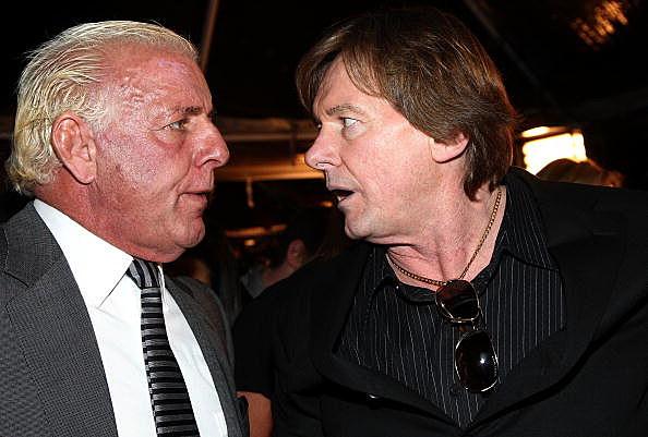 Ric Flair Stares Down Rowdy Roddy Piper