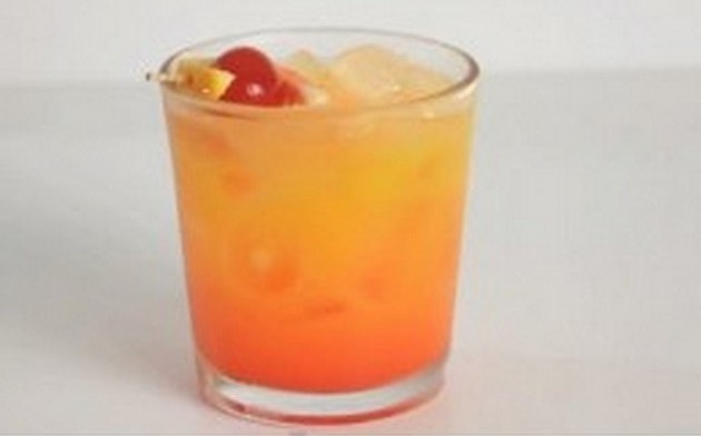 Drink a tequila sunrise mixed drink inspired by the for Best tequila shot recipes