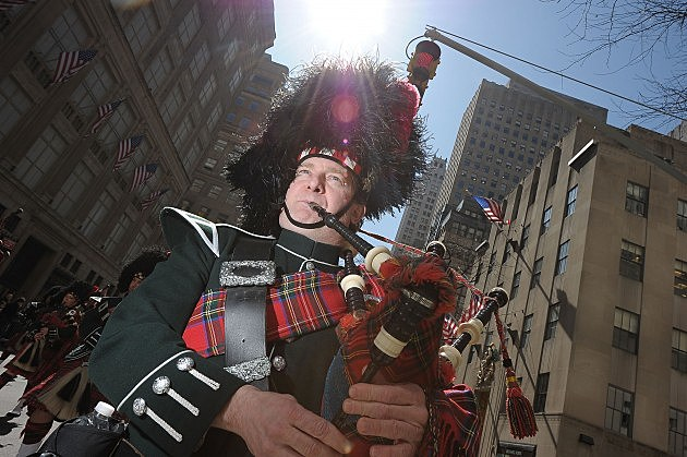 Bagpiper at St. Patrick's Day Parade