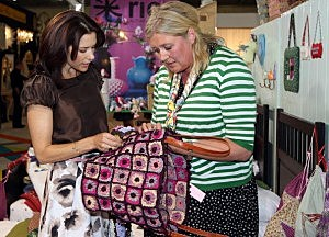 women at craft show