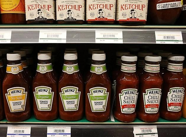 Heintz Ketchup on shelf