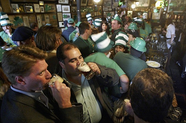 St. Patrick's Day in a pub