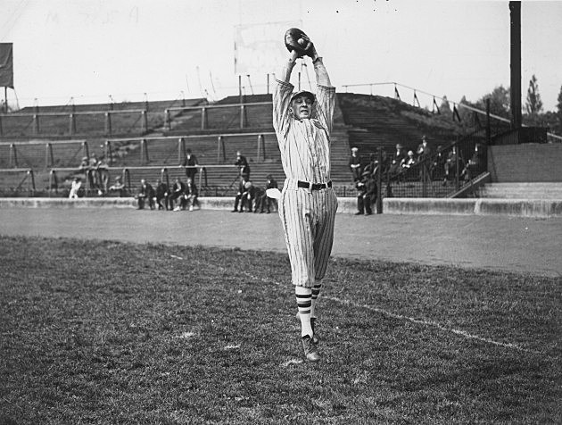 baseball player in the 1920s