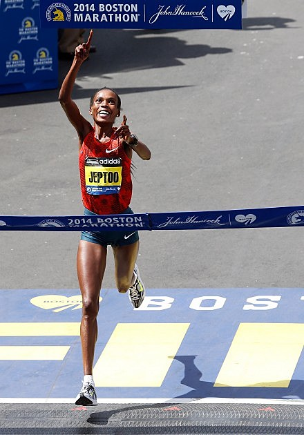 Boston Marathon 2014 Winner Woman