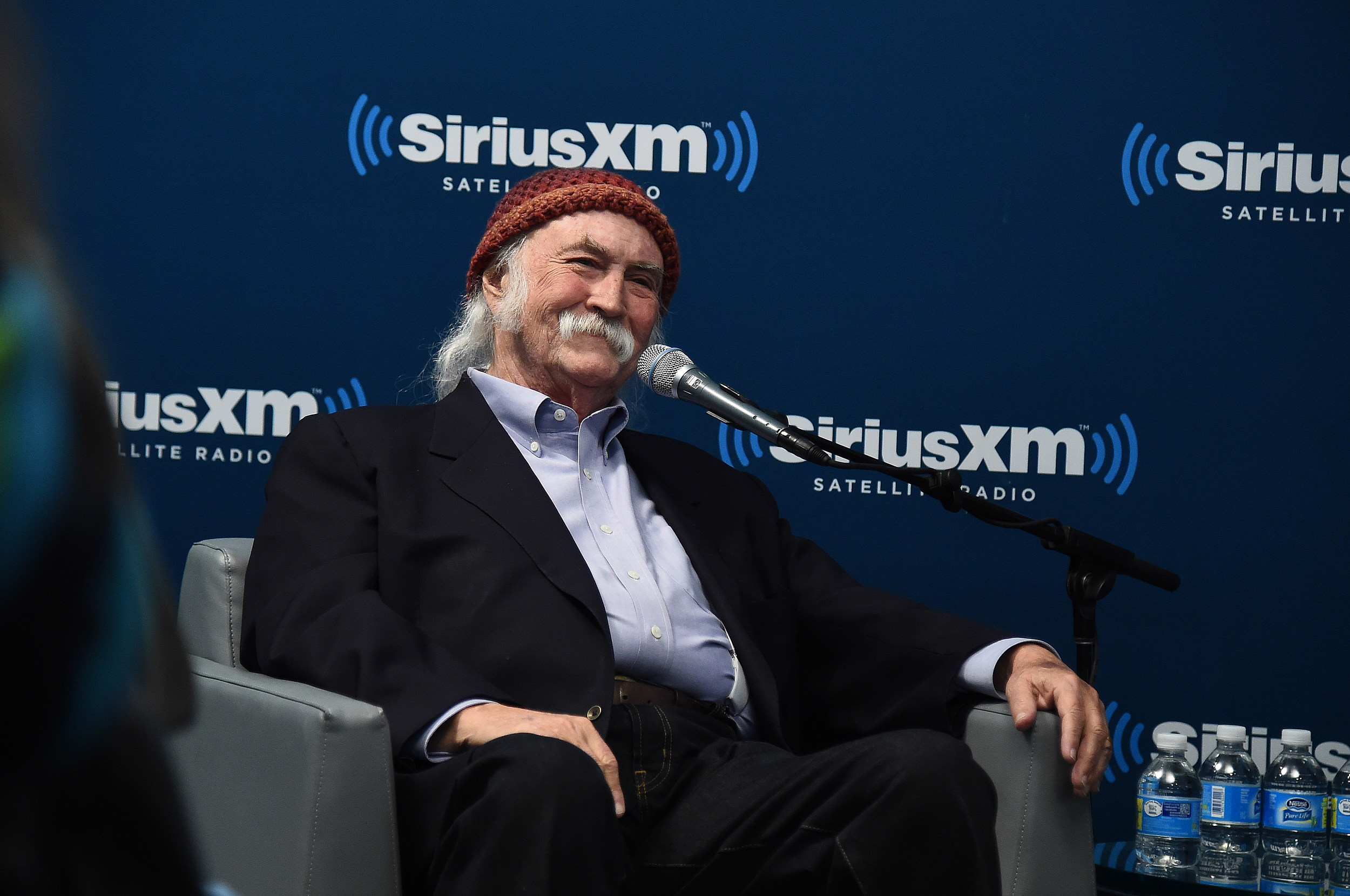 "Singer, Songwriter David Crosby Visits The SiriusXM Studios For The ""John Fugelsang Interviews David Crosby"" Event"